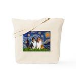 Starry Night / Collie pair Tote Bag