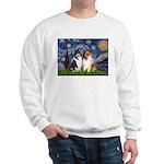 Starry Night / Collie pair Sweatshirt
