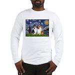 Starry Night / Collie pair Long Sleeve T-Shirt