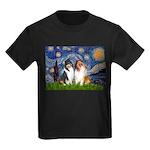 Starry Night / Collie pair Kids Dark T-Shirt