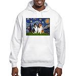 Starry Night / Collie pair Hooded Sweatshirt