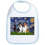 Starry Night / Collie pair Bib