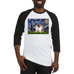 Starry Night / Collie pair Baseball Jersey