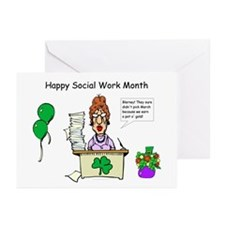 Social Work Month Desk2 Greeting Cards (Pk of 20)