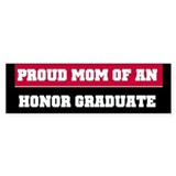 Red Proud Honor Grad Mom Bumper Bumper Sticker