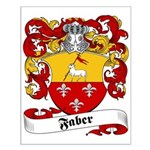 Faber Family Crest Small Poster