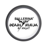 Ballerinia Deadly Ninja Wall Clock