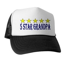 5 Star Grandpa (blue letters) Trucker Hat