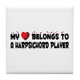 Belongs To A Harpsichord Player Tile Coaster