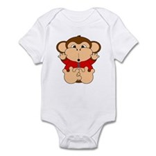 One Year Old Monkey Infant Bodysuit