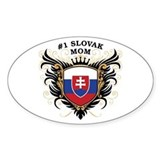 Number One Slovak Mom Oval Decal