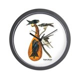 Audubon Purple Martins Bird Wall Clock