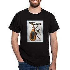 Audubon Purple Martins Bird (Front) T-Shirt