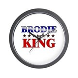 BRODIE for king Wall Clock