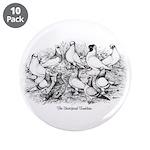 """Shortface Tumbler Pigeons 3.5"""" Button (10 pac"""