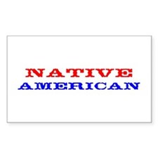 NATIVE AMERICANA Rectangle Decal