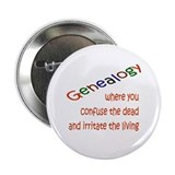 "Genealogy Confusion (red) 2.25"" Button"