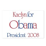 Kaelyn for Obama 2008 Postcards (Package of 8)