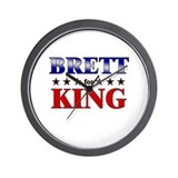 BRETT for king Wall Clock