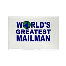 World's Greatest Mailman Rectangle Magnet (100 pac