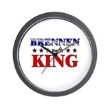 BRENNEN for king Wall Clock