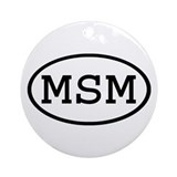 MSM Oval Ornament (Round)