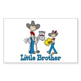 Stick Cowboys Little Brother Rectangle Decal
