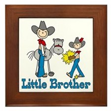 Stick Cowboys Little Brother Framed Tile
