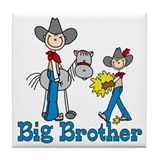 Stick Cowboys Big Brother Tile Coaster