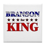 BRANSON for king Tile Coaster