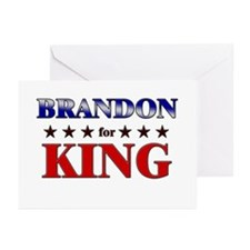 BRANDON for king Greeting Cards (Pk of 10)
