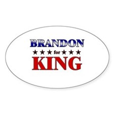 BRANDON for king Oval Decal