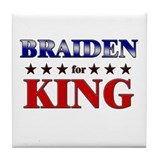 BRAIDEN for king Tile Coaster