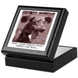 Crazy dog (vizsla) Keepsake Box