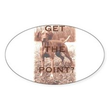 Pointing dog (vizsla) Oval Decal