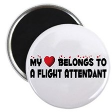 "Belongs To A Flight Attendant 2.25"" Magnet (1"