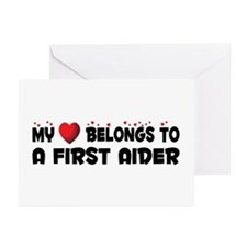 Belongs To A First Aider Greeting Cards (Pk of 10)