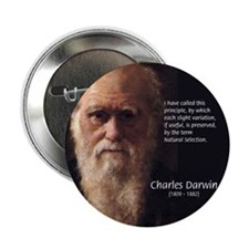 "Charles Darwin: Evolution 2.25"" Button (100 pack)"