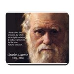 Charles Darwin: Evolution Mousepad