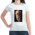 Charles Darwin: Evolution Jr. Ringer T-Shirt