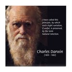 Charles Darwin: Evolution Tile Coaster