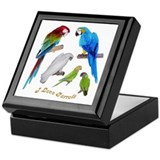 I love Parrots Keepsake Box