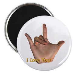 """I Love You"" Hand Magnet"