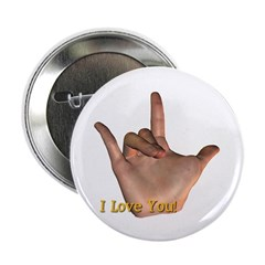 &quot;I Love You&quot; Hand 2.25&quot; Button