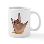 """""""I Love You"""" Hand Mug"""