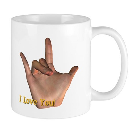 &quot;I Love You&quot; Hand Mug