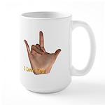 """I Love You"" Hand Large Mug"