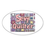Sexy Quilter Oval Sticker