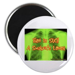 "Smokers Laugh 2.25"" Magnet (10 pack)"