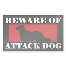 Beware of Attack Dog English Shepherd Decal